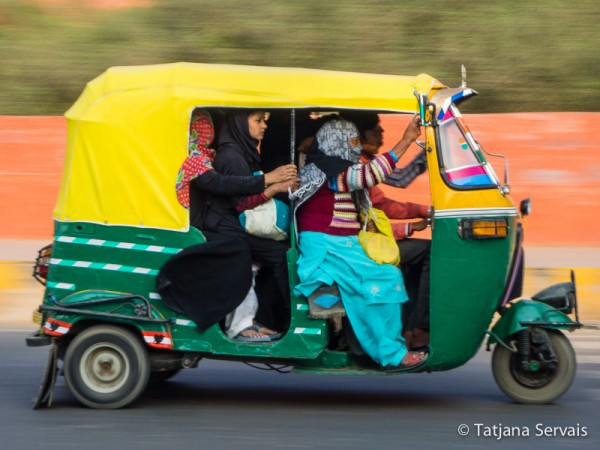 Tuk Tuk in Neu Delhi - Traffic in India